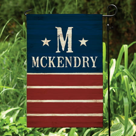 Stars and Stripes Personalized Garden Flag - Personalized Garden Flags