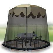 Ideaworks JB6614 Black Outdoor 11 Foot Umbrella Table w/ Mesh Screen