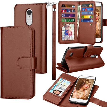 detailed look ab9f0 2f10b LG Fortune / LG Phoenix 3 / LG Aristo / LG Risio 2 / LG Rebel 2 LTE /LG LV3  Wallet Cases, Tekcoo Credit Card Slots Carrying Folio Flip Cover ...