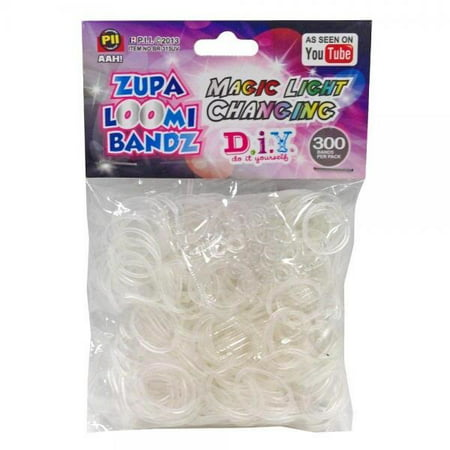 D.I.Y. Do it Yourself Bracelet Zupa Loomi Bandz 300 Magic Light Changing Rubber Bands with 'S' Clips Do It Yourself Outdoor Lighting