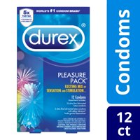 Durex Ultra-Fine and Lubricated Latex Condoms Assorted Pleasure Pack  12 Count