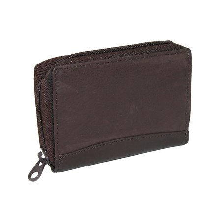 Size one sizeOne size Men's Leather Zip Around Accordion Credit Card Wallet Accordion Credit Card