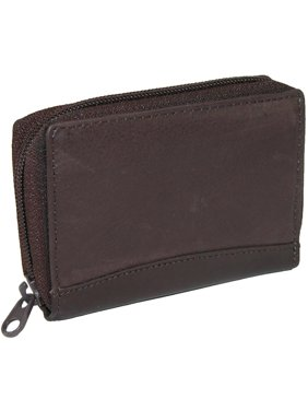 Size one sizeOne size Men's Leather Zip Around Accordion Credit Card Wallet