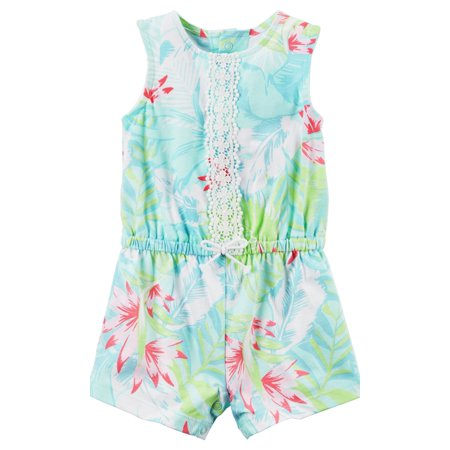 - Carter's Blue Hawaiian Floral Printed Romper