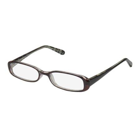 New D&a Thread Womens/Ladies Designer Full-Rim Transparent Plum / Black Exclusive Beautiful Brand Name Hip Frame Demo Lenses 48-17-130 Flexible Hinges Eyeglasses/Eye (Ladies Designer Names)