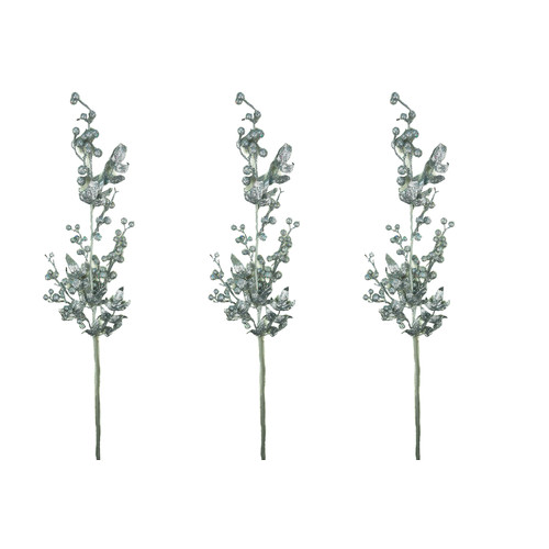 Admired by Nature Glitter Berry Christmas Stem (Set of 3)