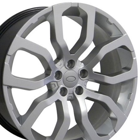 Land Rover Styling - 22x10 Wheel Fits Land Rover - Range Rover Style Hyper Silver Rim