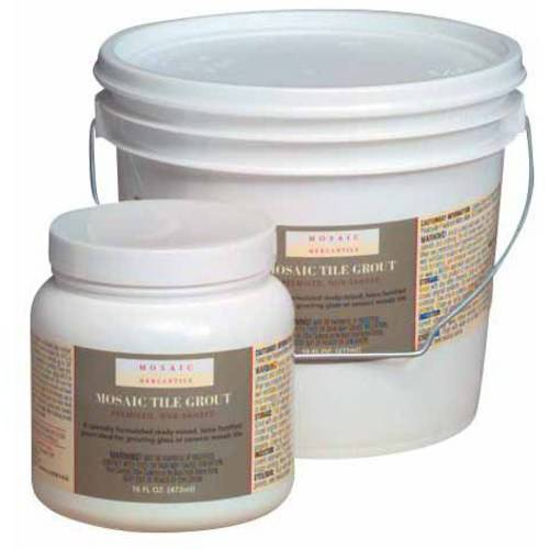 Mosaic Mercantile Pre-Mixed Grout, 1 Quart Bucket, White