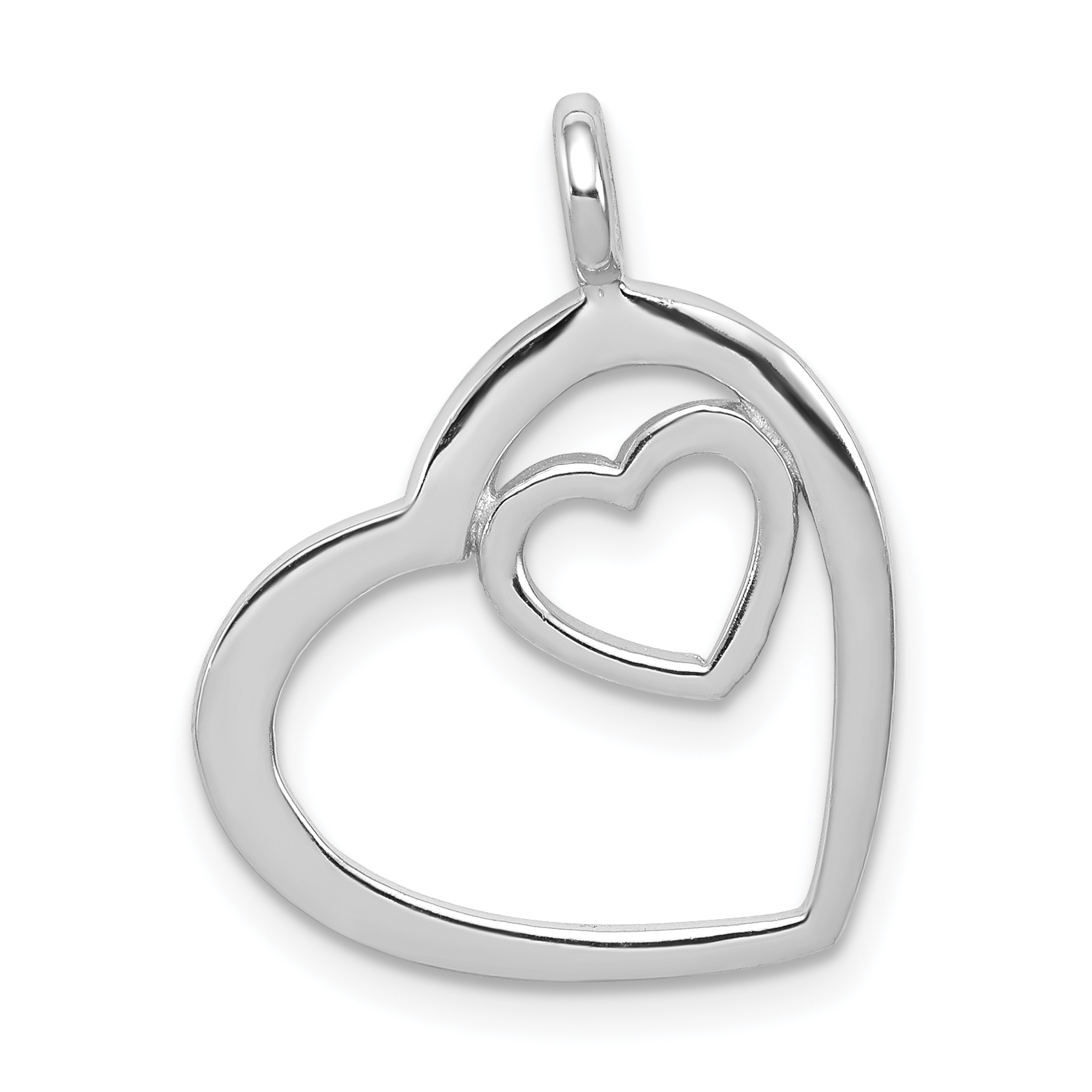 925 Sterling Silver Heart Pendant Charm Necklace Love Multiple Fine Jewelry Gifts For Women For Her - image 6 de 6