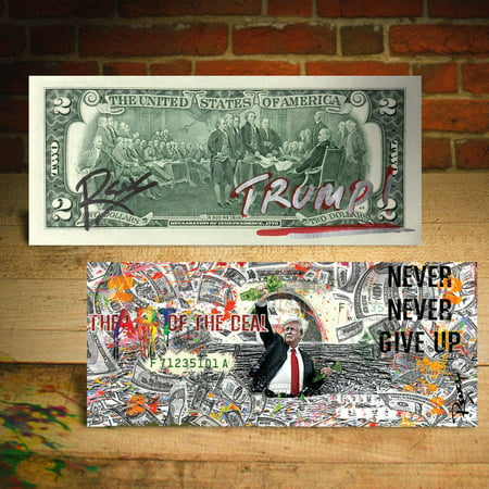 DONALD TRUMP Art of the Deal Sea of Money Genuine $2 U.S. Bill SIGNED by Rency (Smith Hand Signed)