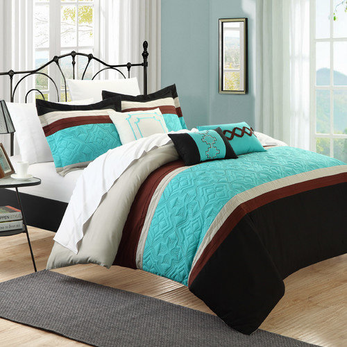 Chic Home Corrine 6 Piece Embroidered Comforter Set