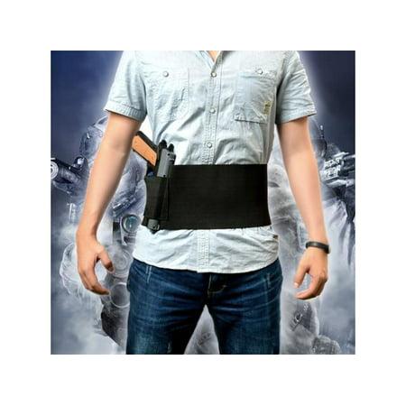 - Tactical Elastic Belly Band Waist Pistol Gun Holster & 2 Magzine Pouches(Fits waist sizes from 30