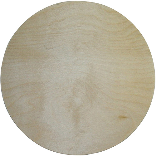 """MPI Unfinished Wood Baltic Birch Plaque, Circle, 10"""""""