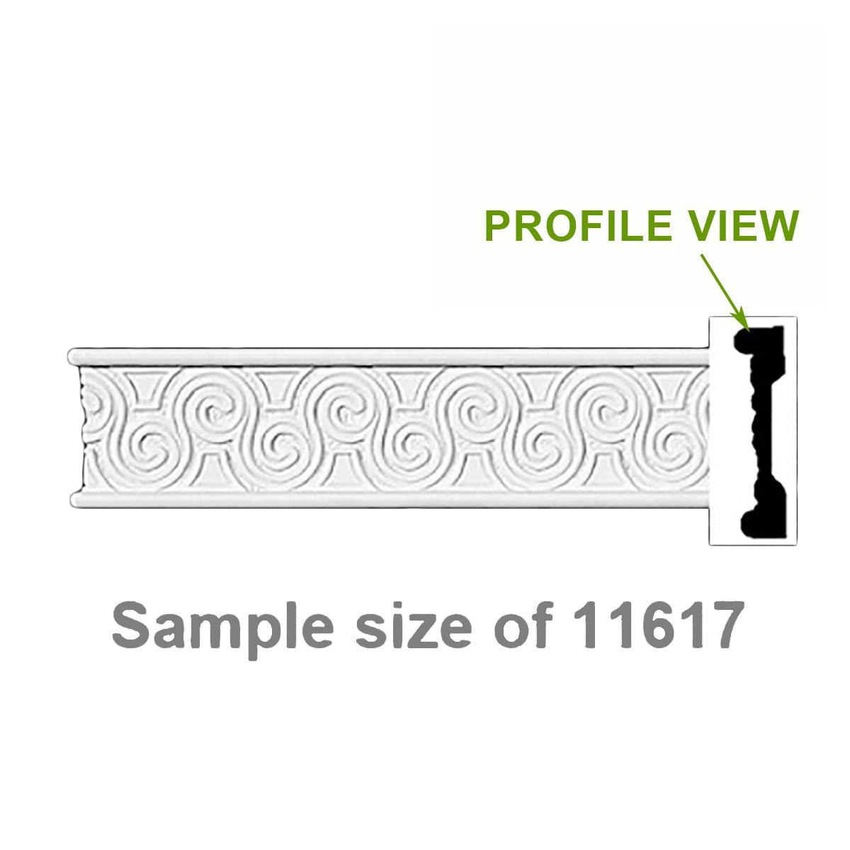 Cornice White Urethane Sample of 11617 | Renovator's Supply