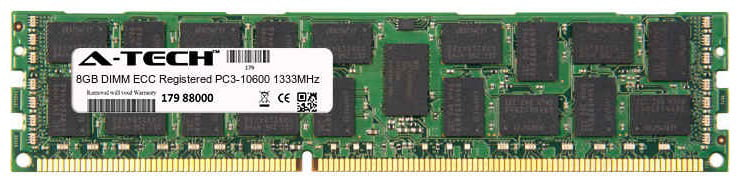 8GB Module PC3-10600 1333MHz ECC Registered DDR3 DIMM Server 240-pin Memory Ram