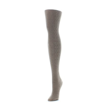 Thick Sweater Tights (MeMoi Side Cable Winter Sweater)