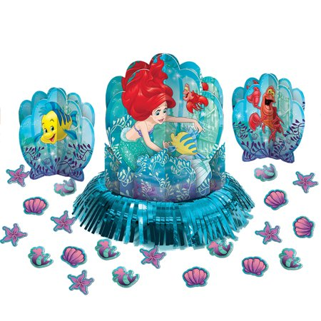 Disney's The Little Mermaid Party Table Decorating Kit, 23 Pieces - The Little Mermaid Party Theme