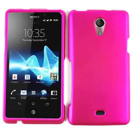 (Unlimited Cellular Snap-On Case for Sony Xperia TL - Honey Hot Pink, Leather Finish)