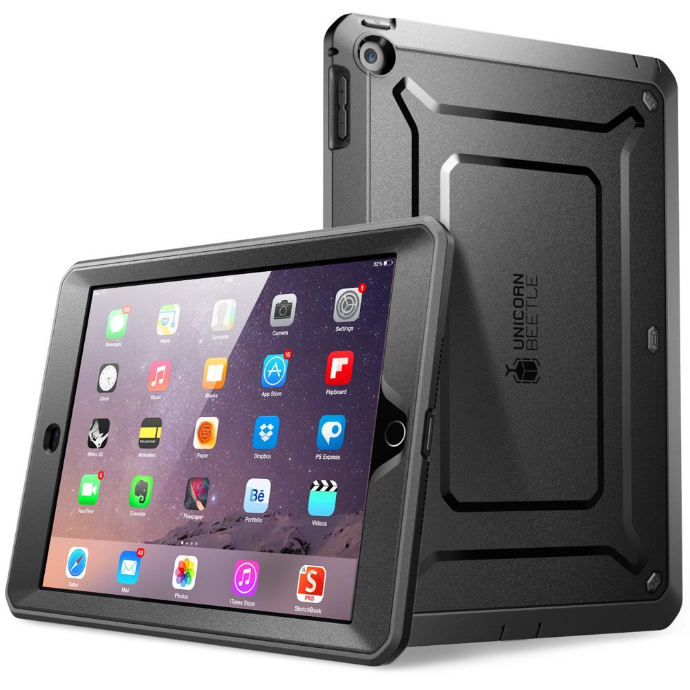 SUPCASE iPad Mini 3 Case - Unicorn Beetle Pro Series Protective Cover with Built-in Screen - Black Black