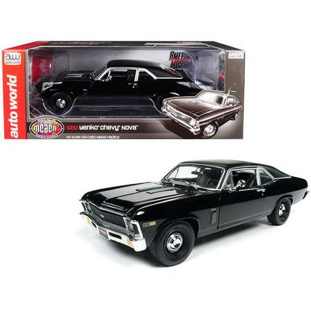Autoworld AMM1178 1:18 1969 Chevrolet Yenko Nova (MCACN) Gloss Black