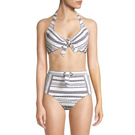 Sandbar Stripe Halter Bikini Top