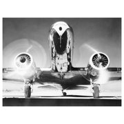 Global Gallery's 'Front View of Passenger Airplane' By Unknown Unframed Giclee on Paper Print