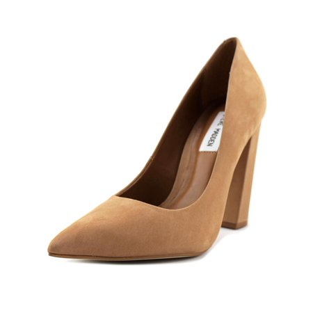 9d8dcb2a2d0 Steve Madden Primpy Women Pointed Toe Leather Tan Heels