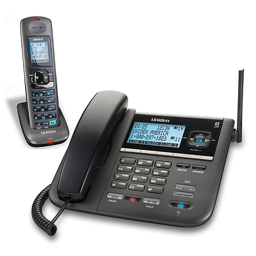 Uniden DECT4096 2 Line Corded/ Cordless Phone & Mount w/ 30 Min Digital Answering System