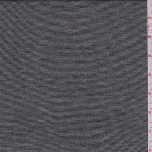 Heather Pewter/Silver Stripe Jersey Knit, Fabric By the Yard