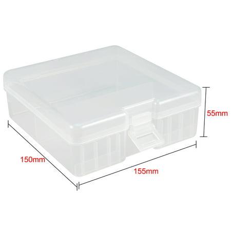 Battery Storage Case Holder Storage Box Transparent 100 x AA Battery Capacity - image 3 of 4