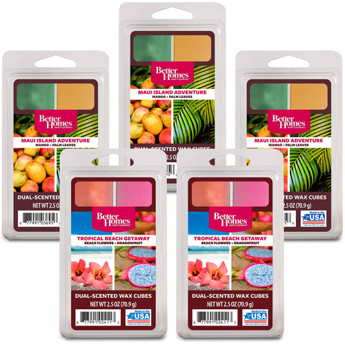 Better Homes and Gardens 5-Pack Wax Duo's, Tropical Beach Escape