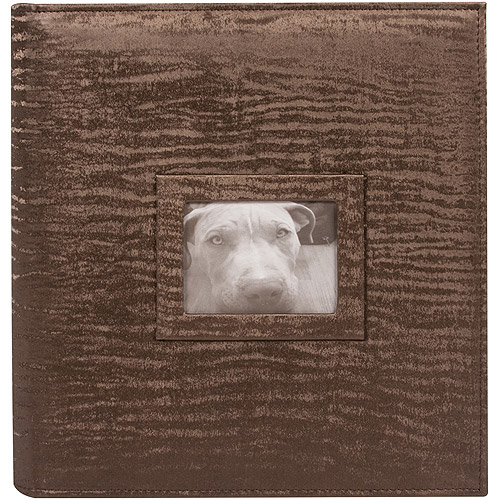 "8.5"" x 11"" 3 Ring Photo and Scrapbook Album, Brown"