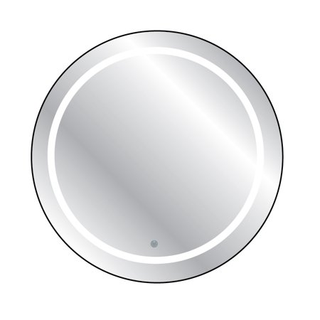 Touch LED Cordless Lighted Vanity Round Wall Décor Mirror ()