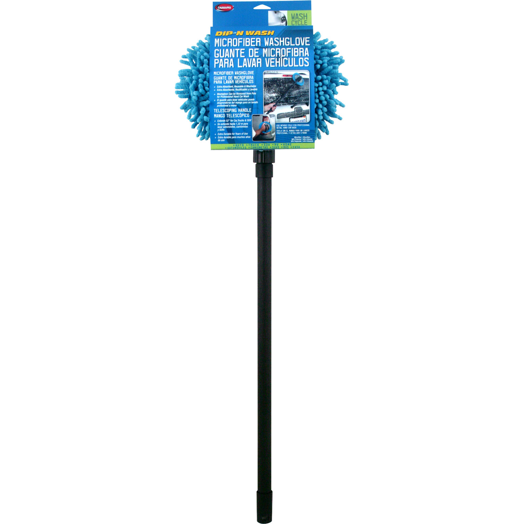 Microfiber Wash Mop With 48 Extension Pole