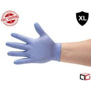 Blue Nitrile Disposable Powder Free 3 Mil Gloves - Size: X-Large - 100 Pieces (1 Box)