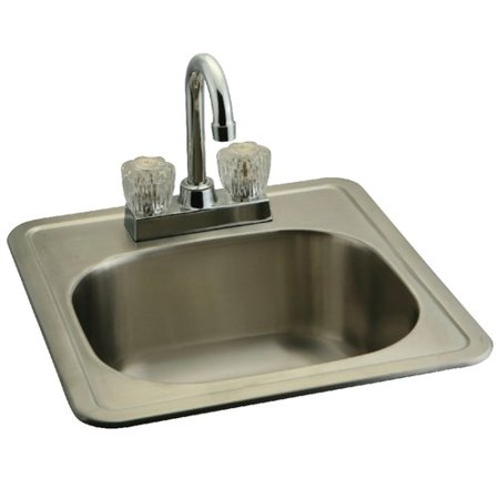 Kingston Brass 15 L X 16 W Undermount Bar Sink With Faucet And