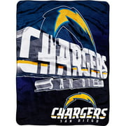 "NFL Bevel 60"" x 80"" Micro-Raschel Throw, Chargers"