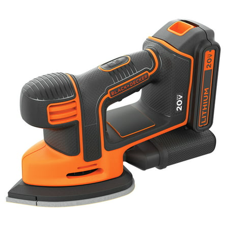 BLACK+DECKER 20-Volt Max* Lithium-Ion Cordless Mouse Orbital Sander,