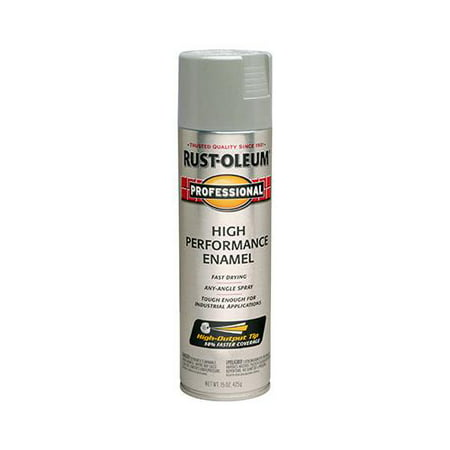 Rust-Oleum 7581-838 Fast Dry Professional Fast-Dry High-Performance Enamel Spray Paint, Light Machine Gray, - Quantity 1
