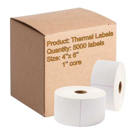 5000 Direct Thermal Labels 4 x 6  Very Sticky  Made in The USA  Direct  Thermal Shipping Labels 4x6  Blank mailing Labels, 1