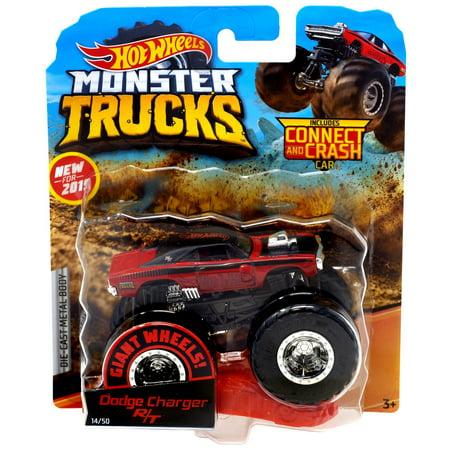 Wheel Dodge Truck (Hot Wheels Monster Trucks Dodge Charger R/T Die-Cast Car )