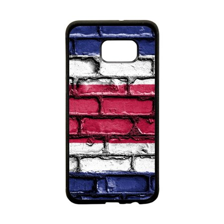 Costa Rica Flag Brick Print Design Black Plastic Protective Phone Case That Is Compatible with the Samsung Galaxy s8 Plus / s8+ / - Phone Cards Costa Rica