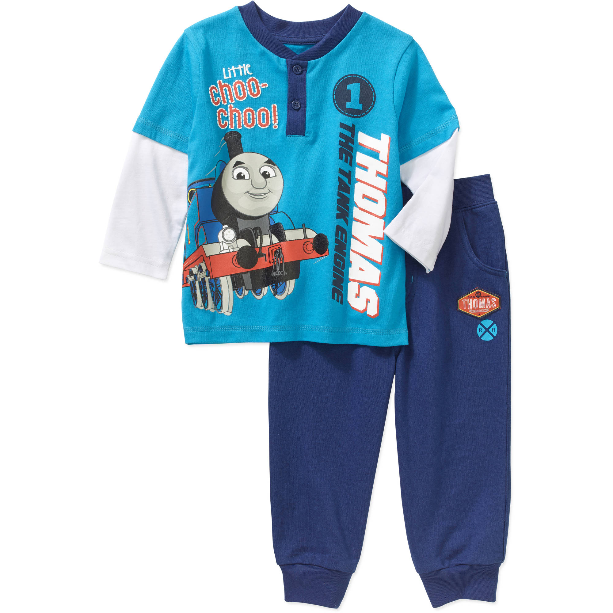 Thomas the Train Newborn Baby Boy Long Sleeve Tee and Pant Set