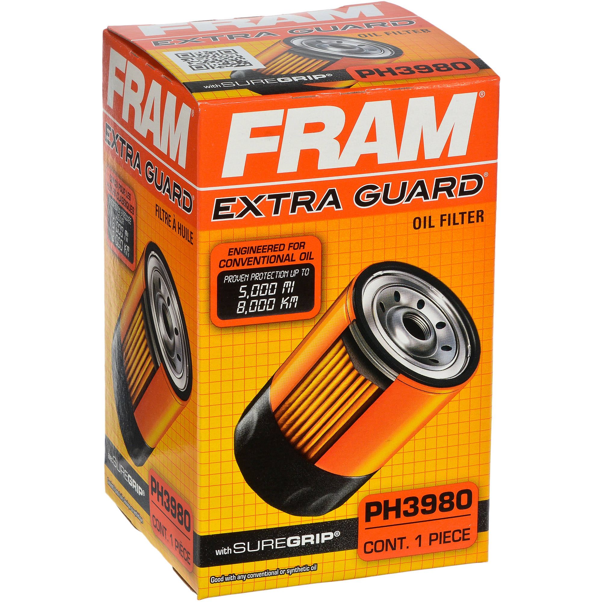 FRAM Extra Guard Oil Filter, PH3980