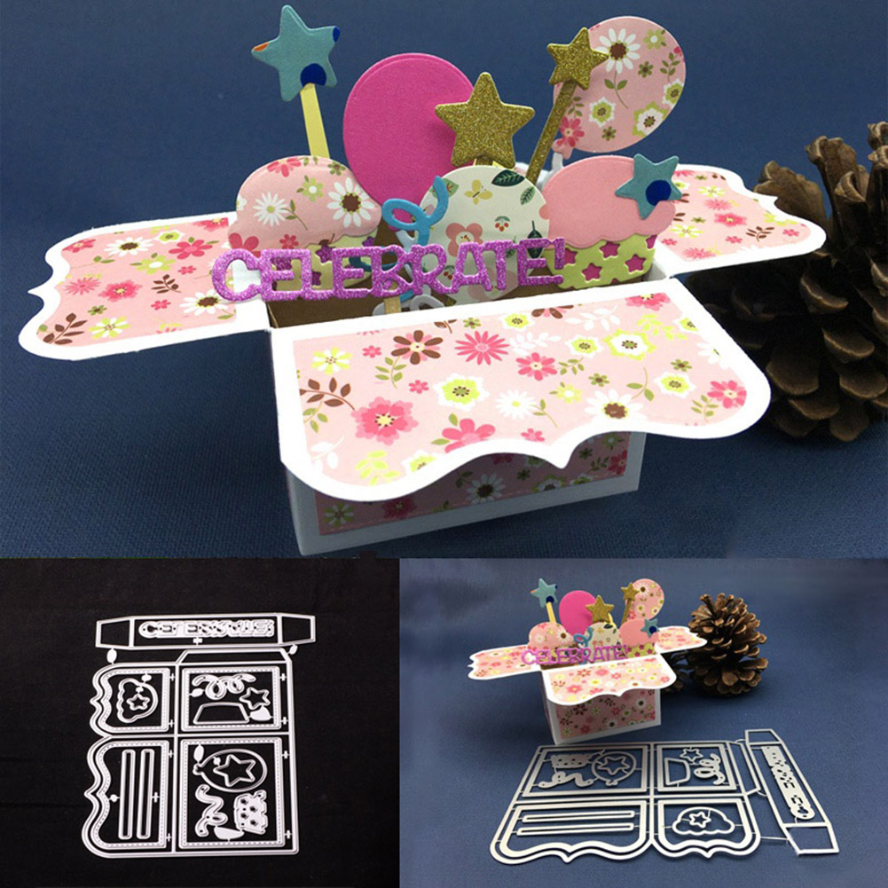 Micelec Exquisite Gift Box Diy Embossing Cutting Dies Birthday Rh Walmart Com Cards For Her Oversized