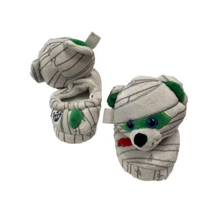 Build A Bear Boys White Mummy Slippers Halloween Monster House Shoes