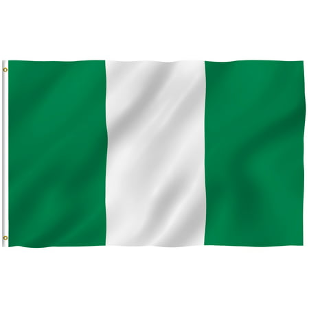 ANLEY [Fly Breeze] 3x5 Foot Nigeria Flag - Vivid Color and UV Fade Resistant - Canvas Header and Double Stitched - Nigerian National Flags Polyester with Brass Grommets