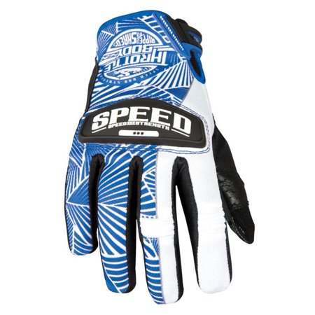 Speed & Strength Throttle Body Womens Leather and Mesh Gloves Blue/White (Blue, Medium) (Leather Throttle)
