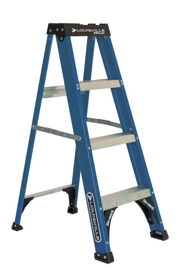 Louisville Ladder 4 Foot Fiberglstep Ladder 225 Pound Capacity Type Ii