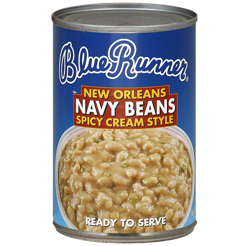 Blue Runner New Orleans Spicy Cream Style Navy Beans, 16 oz (Pack of 12)
